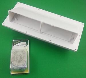 Exterior rv stove hood vent v2111 13 1 install kit - Exterior wall vent for rv range hood ...