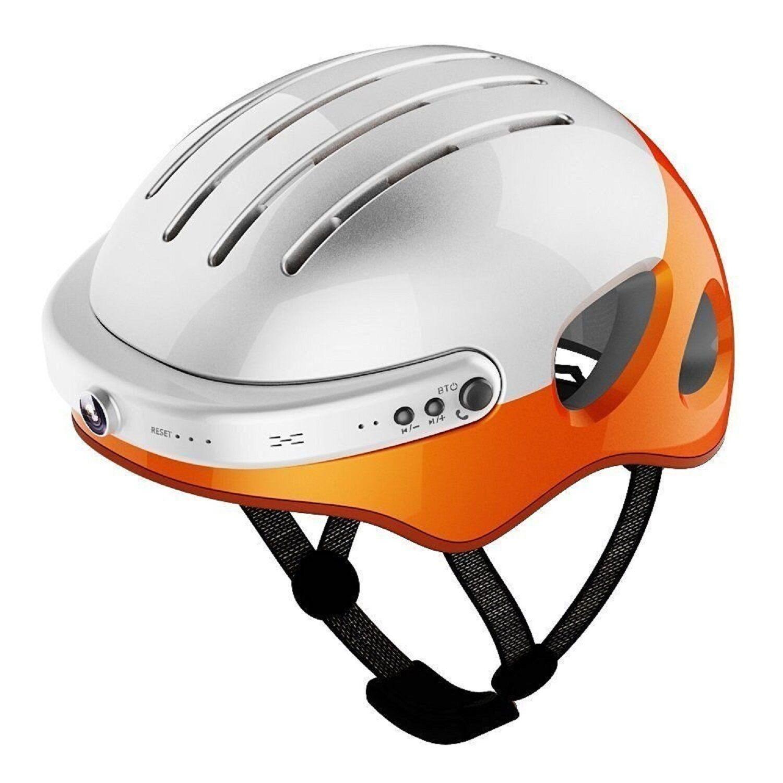 Airwheel C5 Smart Helmet HD Cam Wifi Headset blueetooth Large L orange Headphone