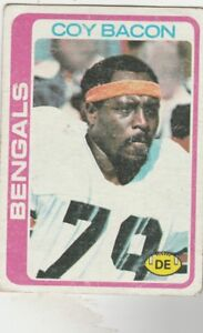 FREE-SHIPPING-FAIR-TO-POOR-1978-Topps-135-Coy-Bacon-BENGALS