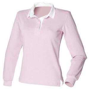 New Front Row Womens Ladies Long Sleeve Classic Rugby Style Shirt 6