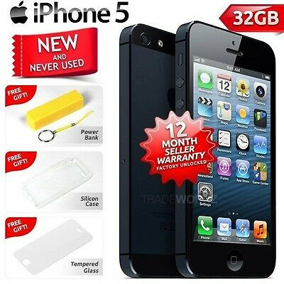 New in Sealed Box Factory Unlocked APPLE iPhone 5 Black 32GB 4G Smartphone
