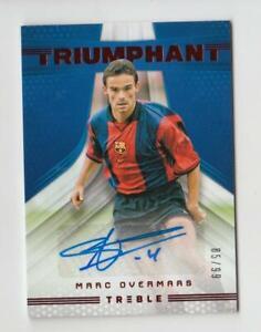 2018-19 Panini Treble Soccer Autograph Auto Card :Marc Overmars #85/99