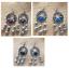 Oxidised Silver Mini Boho Bell Fringe Dangle Earrings 3 Different Colours