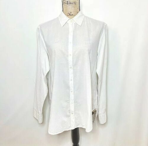 Xirena Button Up Top S White Long Sleeve Oversized