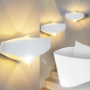 applique murale design led lampe de couloir m tal blanc lampe murale spot 147714 ebay. Black Bedroom Furniture Sets. Home Design Ideas