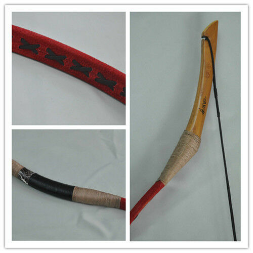 NEW red Pigskin Hungarian Style Hunting Longbow Archery Recurve Bow 10-110lbs 01