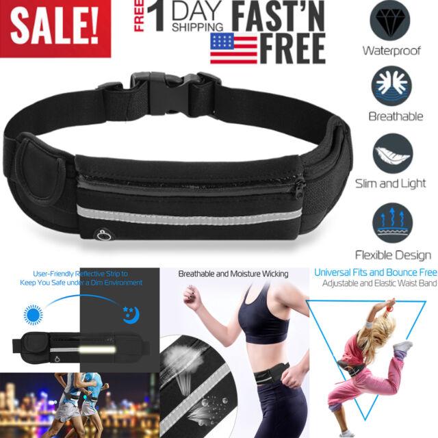 Sport Running Travel Stretch Waist Belt Pack Bag Phone Zipper Pouch Wallet