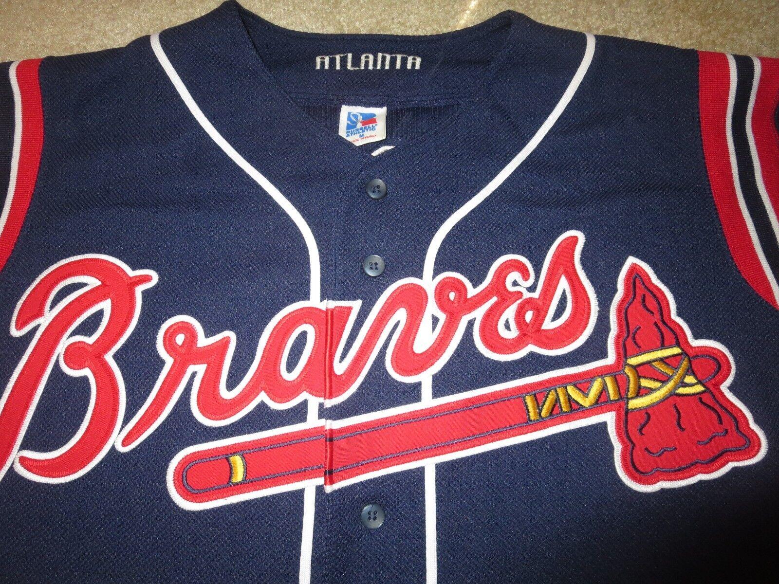 Greg Maddux  31 31 31 Atlanta Braves Russell Athletic MLB Trikot M Med f83ac8