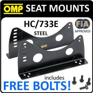 HC-733E-OMP-RACING-BUCKET-SEAT-SIDE-MOUNTS-STEEL-BRACKETS-to-fix-to-SUBFRAMES