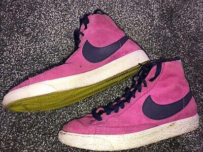 pink and blue nike blazer trainers hi