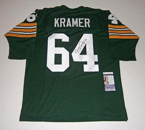 bda671f9eb6b3 PACKERS Jerry Kramer signed jersey w/ #64 JSA COA AUTO Autographed ...