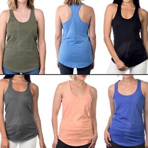 Racer Back Tank Top Women Sleeveless Cotton Yoga Gym Workout Fitness Beach Lot
