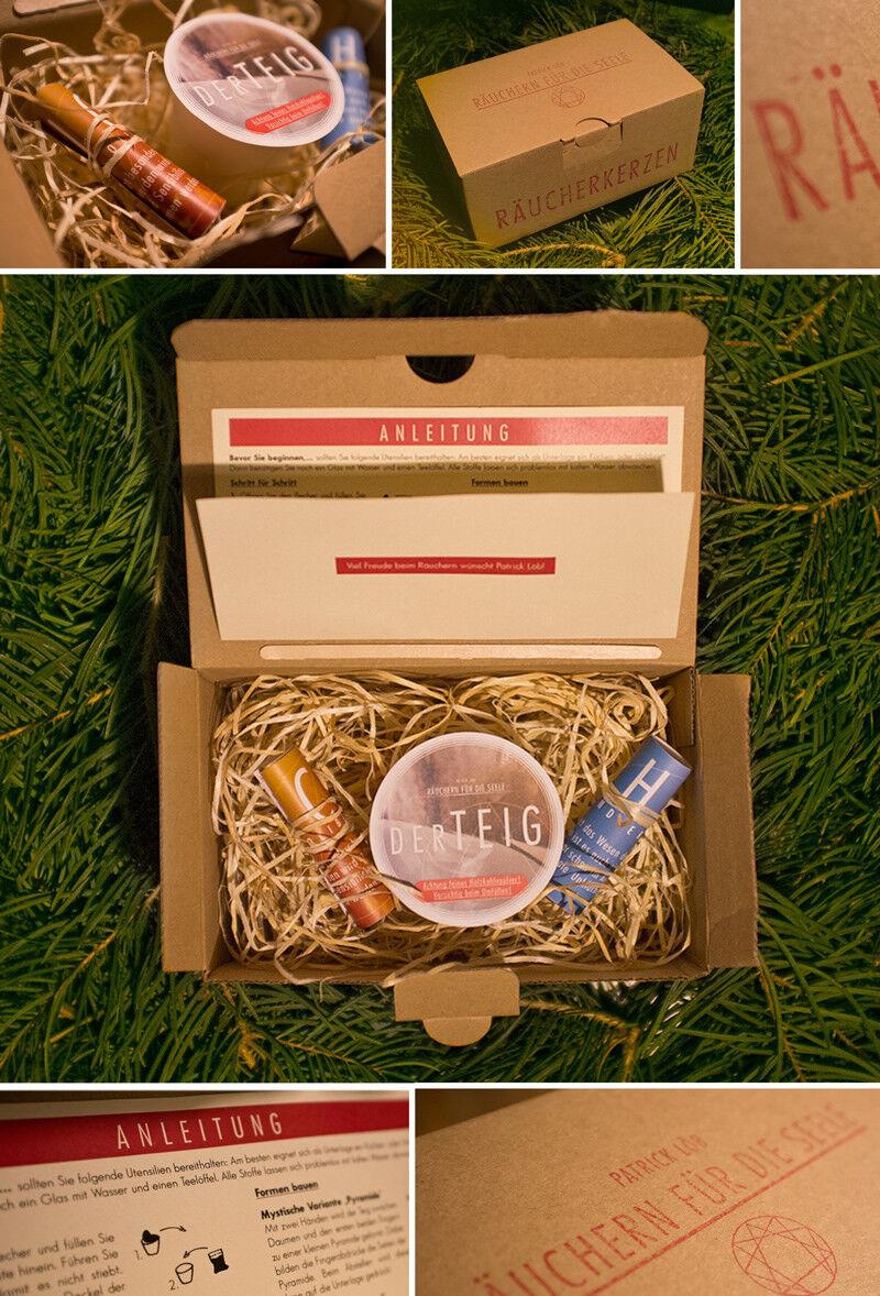 FamilienVerpackung, Räucherkerzen, 3x Räucherkegel zum selber machen
