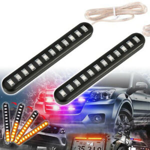Motorcycle-12LED-Flexible-Strip-Light-Turn-Signal-Indicator-Amber-Waterproof-NT