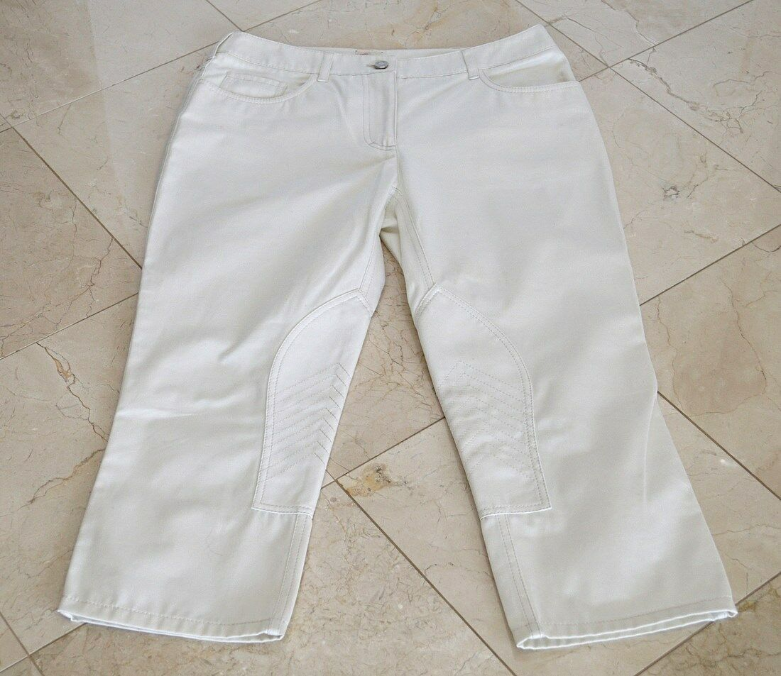 Hermes Pant Riding Style Cropped Off White  40   6