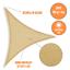 miniatura 1 - Tenda a Vela Ombreggiante Triangolare Ecrù Parasole 3,6X3,6X3,6 Mt Ombra Veranda