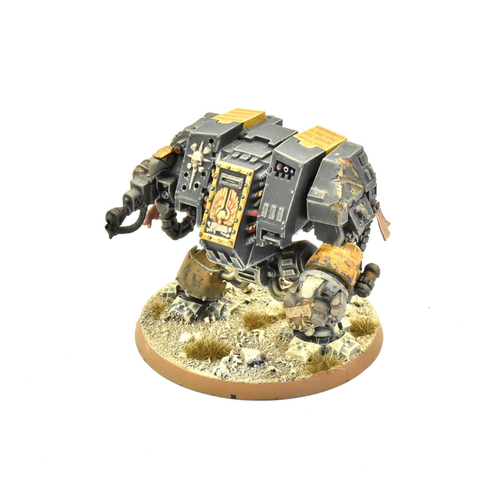 SPACE MARINES Heavy flamer dreadnought PRO PAINTED 40K Red Scorpions army