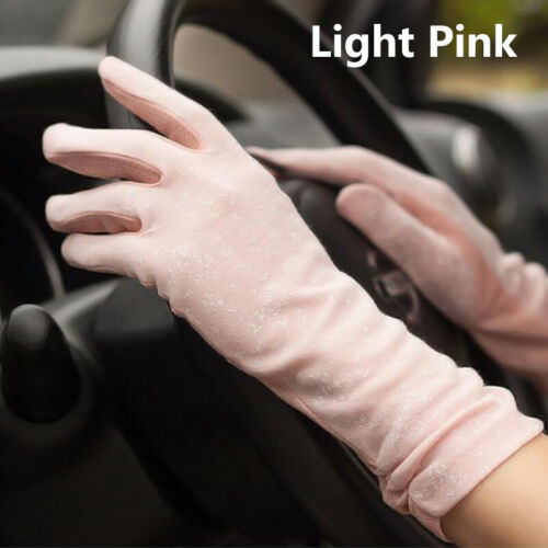 Women/'s Breathable Touch Screen Gloves Summer Sun Protection Cotton Sleeve Thin