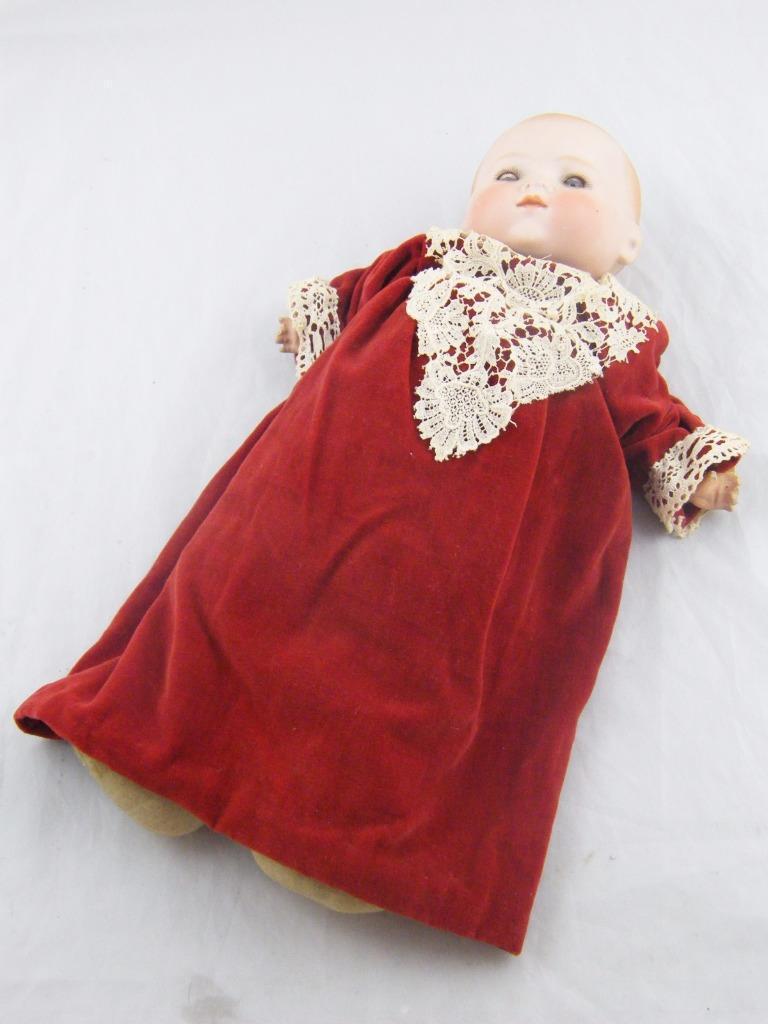 Antiguo A&M Alemana De Porcelana Personaje Muñeca Bebé Dormir los ojos