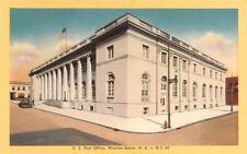 WINSTON-SALEM, NC  North Carolina    U.S. POST OFFICE     c1940's Linen Postcard