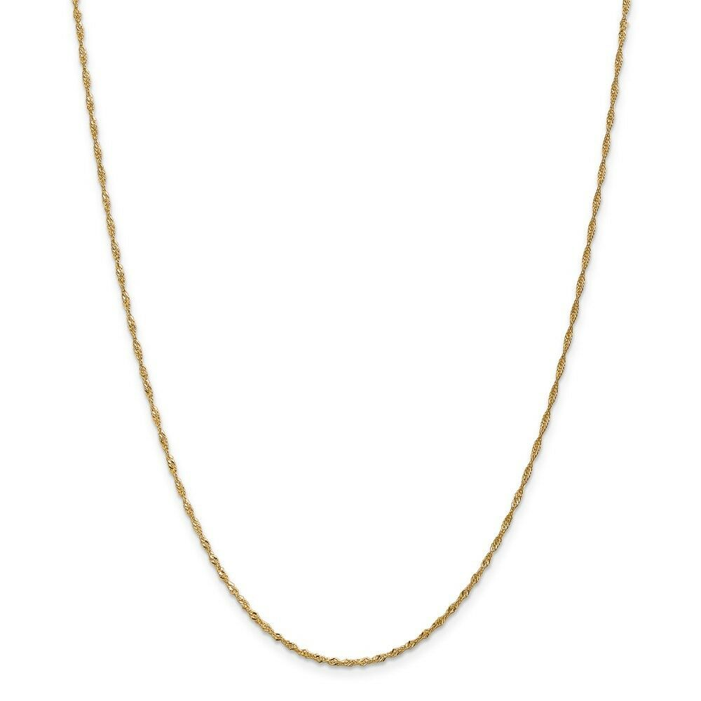 14kt Yellow gold 1.4mm Singapore Chain; 18 inch