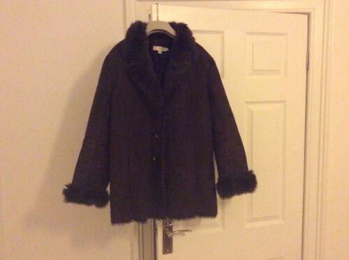 Brown Boden Og Suede Størrelse Faux 16 Coat Fur qwrI7w8T