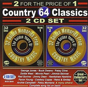 Various-Artists-64-Songs-Country-Classics-Various-New-CD