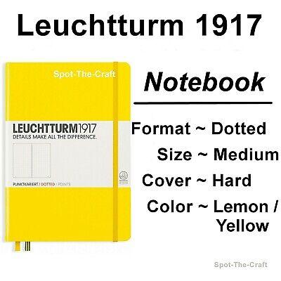 Leuchtturm1917 Dotted Journal Notebook Medium A5 Lemon Yellow 344800 787766234640 | eBay