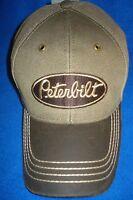 Peterbilt Hat: Washed Canvas / Solid Cloth Cap: Free Ship