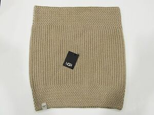 New-tag-Womens-UGG-Australia-Beige-Nyla-Textured-Cable-Knit-Wool-Snood-Scarf-OS