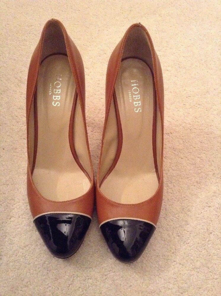 Hobbs Florence Court scarpe Taglia 38 Misto Pelle Tan Nero