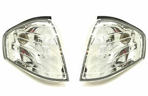 Front-Indicators-Detector-Clear-Chrome-Crystal-Look-Pair-For-Mercedes-R129-Sl