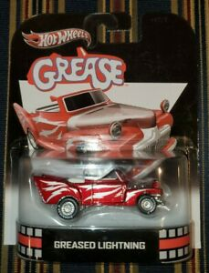 Grease-Retro-Hollywood-Hotwheels-Greased-Lightning-Collector-039-s-Car-Rare-Movie