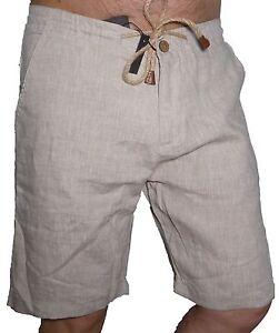 Ragazzo Lino Leggeri Corti Bermuda Pantaloni 44 Uomo Estivi Bianco n1HqdqwY