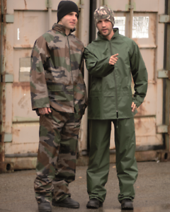 Regenanzug Tarn CCE Army-Style S-4XL Regenjacke Regenhose Regenkombi Nässeschutz