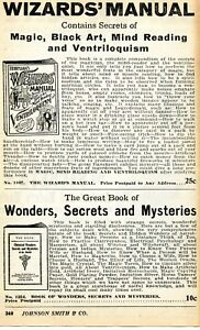 1935-Print-Ad-of-The-Wizards-Manual-Wonders-Secrets-amp-Mysteries-magic-black-art
