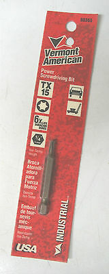 Vermont American TX15 Iso-Temp Torx Industrial Power Screwdriving Bit #80365 1