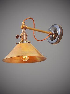 Industrial Lighting Vintage Brass Wall Sconce Steampunk Lamp Art Deco Light Ebay