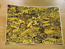 Sticker Bomb sheet 3d - Yellow - A4 size