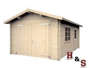 Das Bild Wird Geladen Garage  Ca 350x520 Cm Gartenhaus Geraetehaus Blockhaus Holzhaus