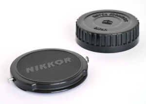 NIKON NIKKOR 52mm FRONT AND NIPPON KOGAKU F MOUNT REAR CAPS! - VERY RARE!