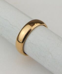 22ct 22carat Yellow Gold Vintage Ladies Wedding Band Ring Uk Size J
