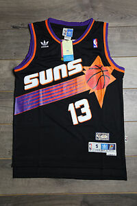 brand new c2c42 f1090 Details about Steve Nash #13 Phoenix Suns Black Jersey Throwback Vintage  Classic Retro Rookie