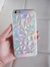 US seller iPhone 6 6s case clear holographic geometric crystal iridescent phone