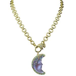 Kirks-Folly-Destiny-Moon-Shadow-Goddess-Removable-Charm-Necklace-Goldtone