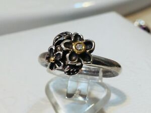 Authentic-Pandora-He-Loves-Me-Two-Tone-Floral-14K-Gold-Diamond-Ring-190613