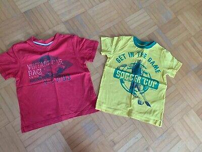 2 Pezzi T-shirt Ragazzi Giallo/rosso Tg. 92-98 S 'oliver, Esprit-mostra Il Titolo Originale