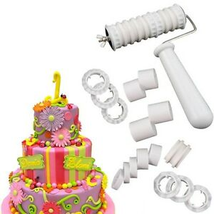 Gadgets For Cake Decorating : Ribbon Cutter and Embosser Set Fondant Cake Decorating ...