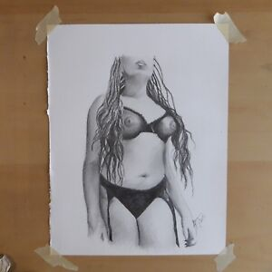 Original-8-5x11-Inch-Pencil-Drawing-Of-Nude-Woman-Done-By-ARTuro