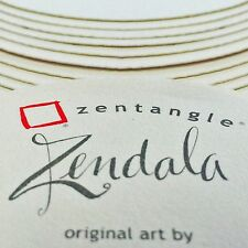 Sakura Zentangle Tiles - Wallet of 15 Zendala Circles - 6 Different Designs